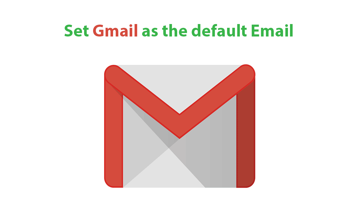 how to change the default email in gmail